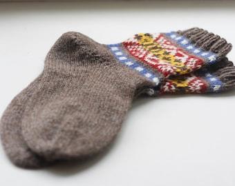 Skroo Fair Isle Socks - PDF Knitting Pattern