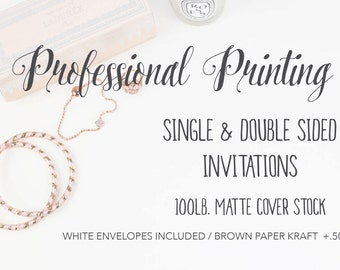 Professional Printing Services - Printing Invitations