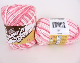 Erdbeer - Lily Sugar Creme Super Größe Ombre Baumwollgarn