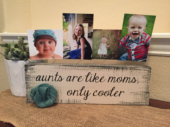 Aunt Personalized picture frame board aunt uncle gift from