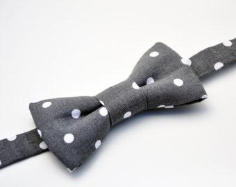 Toddler Bow Tie, Baby Bow Tie, Boys Bow Tie, Grey Bow Tie, Suit Tie, Wedding Bow Tie, Mens Bow Tie, Bow Tie, Bowtie, Ring Bearer Bow Tie