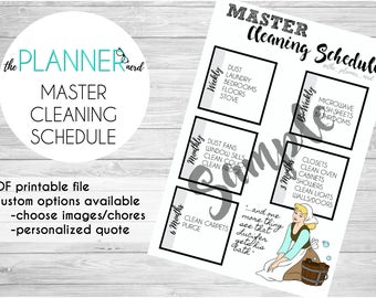 A5 Personal Passion Planner BuJo Bullet Journal Master Cleaning Chores Schedule Sticker PDF Download
