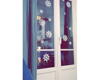 Snowflake stickers
