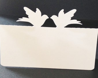 Kissing Dove Place Cards
