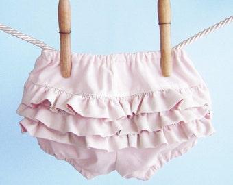 Soft Pink Ruffle Bloomers, Baby Girl Ruffle Diaper Cover, Newborn Bloomers, Ruffled Bloomers, Baby Girl Bloomers, Pink Bloomers, Photo Prop