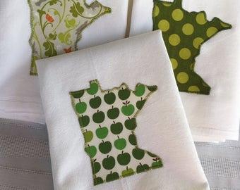 Greens, Apples, Pears, Veggies - Floursack Towel
