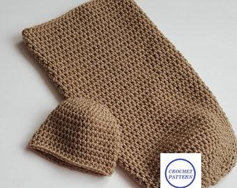 CROCHET PATTERN/Crochet Baby Cocoon and Beanie Pattern/PDF Pattern Only