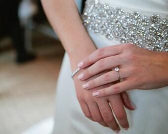 Wide Crystal Belt, Bridal Sash, Statement Sash, Bridal Belt, Jeweled Bridal Belt, Bridal Dress Sash, Crystal Bridal Sash, Rhinestone Sash