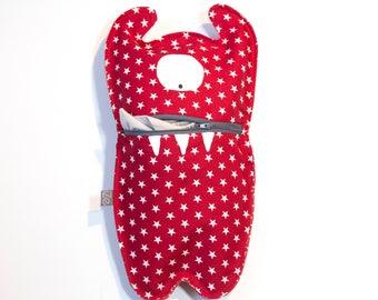 Pajama bag Monster Cycl Red