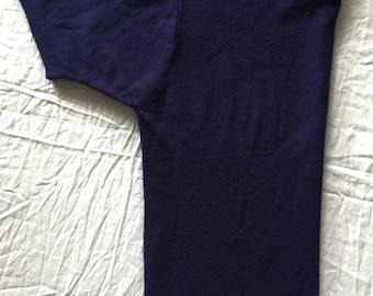 Navy Blue Knit Blouse