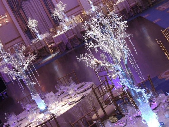items similar to crystal wedding tree centerpieces