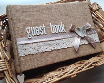 Guest book shabby country Chic-medium/large