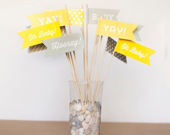 Baby Shower Large Flags - Gender Neutral