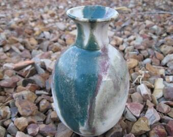 Stoneware Bud Vase, Petite Vase, Multi Colored Vase , Pottery Vase, Stoneware Pottery Bud Vase, Winter Decor, Stoneware Pottery Vase, Spring