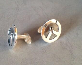 Sterling silver Cufflinks - Overwatch - for grooms, groomsmen, wedding, birthday, fathers day