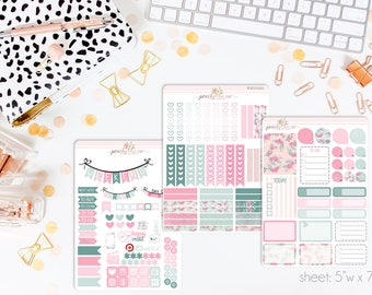 Spring Forward VERTICAL Weekly Kit // 140+ Matte Planner Stickers // Perfect for your Erin Condren Life Planner // WKV0550