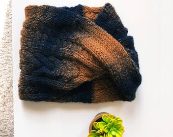 Women's Scarves, Womens Scarves Handmade, Cowl Scarf, Cabled Cowl, Knitted Women's Scarf, Knit Scarf, Seraphina Twisted Cowl