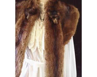 Antique Edwardian mink fur wrap stole bohemian dreams