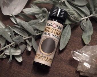 Organic Perfume SOLSTICE Natural Fragrance Spearmint Juniper 15ml // .5oz