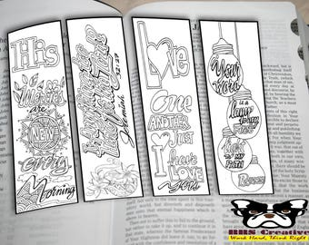 Unique DIY Bible Journal Coloring Bookmarks with Doodles and Verses_HighQuality Printable for Bible journaling