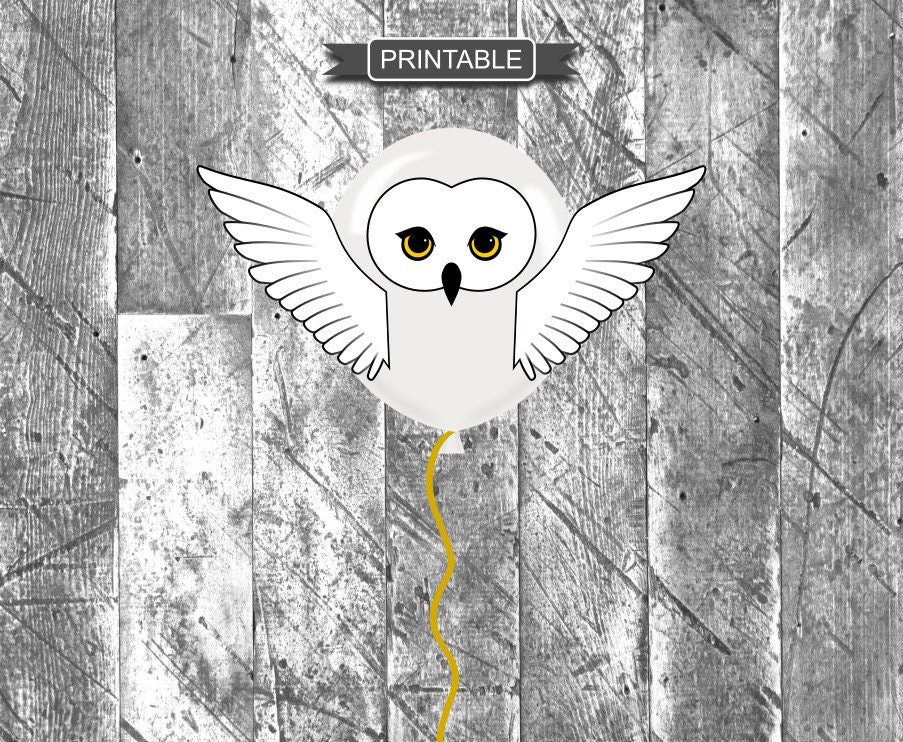 DIY Harry Potter Style Owl Baby Shower or Party Balloon ...