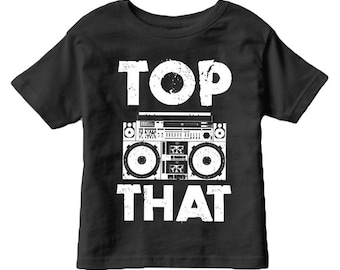 50% OFF Sale! black TOP THAT tee - kids baby, teen witch, graphic tee, 80s