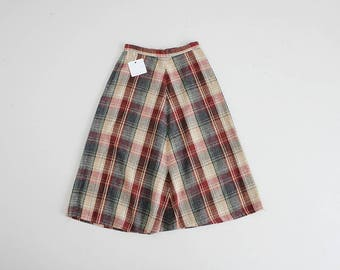 christmas plaid skirt | 70 wool plaid skirt | red and green plaid skirt