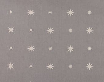 One Metre of Christmas Starlight Soft Furnishing Fabric in Grey