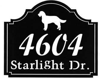 Personalized House Numbers Address Metal Sign
