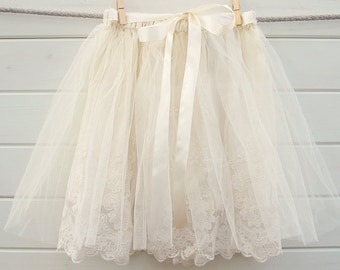 Lace tutu, cream tutu, cream tutu skirt, cream lace tutu skirt, girls clothing, clothing, girls tutu, flower girl skirt, toddler tutus