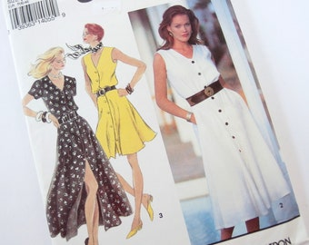 Unused Dress Sewing Pattern, Vintage 1993 Simplicity 8414, Size P 12, 14, 16, Bust 34, 36, 38 Inches