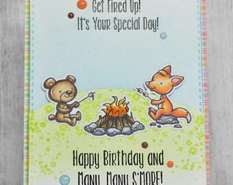 Handmade greeting card, Many S'more, birthday card