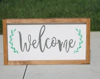 Welcome Sign | Home Sign | Home Decor | Farmhouse Style Sign