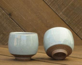 Teabowl - Yunomi - Chawan - Ceramic Cup - Tea Bowl - Celadon Glaze - Wheel Thrown - Reduction - Go Play Clay - Guiliotis - Made to Order