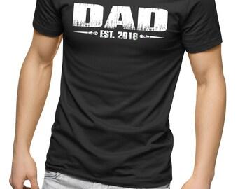 Dad est 2018, New dad gift, New dad 2018, Fun new dad apparel