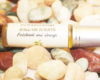 Patchouli and Orange Roll-on Essential Scents/Essential Oil/Natural Scents/Aromatherapy/natural body scent/natural body oil/essential  scent