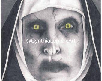 Valak The Nun - Conjuring 2, horror, film, film art, wall art, fine art