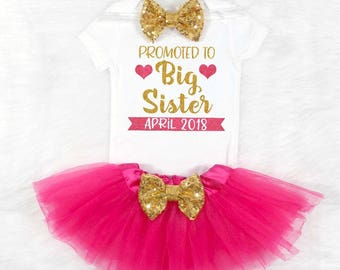 big sister shirt big sister outfit promoted to big sister pregnancy announcement big sister gift big sister new baby announcement big sis