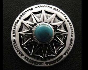 Silver 925 Turquoise Concho/ con9t2