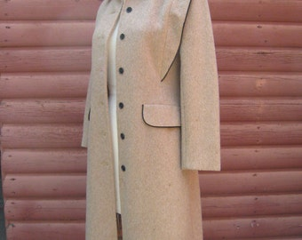 Vintage Sears Junior Bazaar Camel Colored Wool Jacket with Winged Shoulders