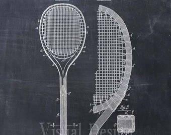 Tennis Racket Patent Print Tennis Racket Art Print