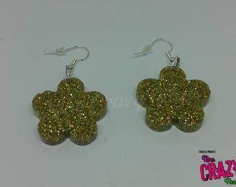 Yellow Flower Earrings