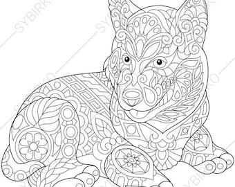 Siberian Husky Coloring Sheets - Worksheet & Coloring Pages