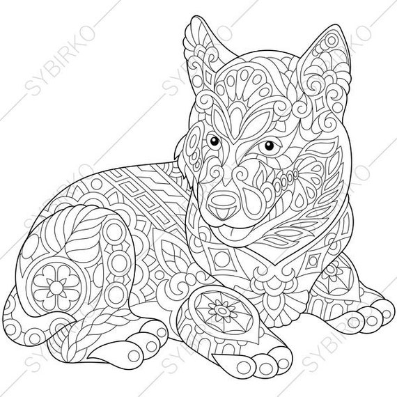 coloring pages of puppies hard - photo#23