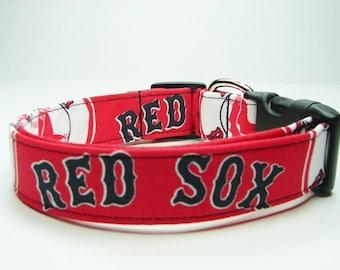 Boston Red Sox Dog Collar