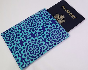 RFID Alum-BLock Sleeve Cover, Passport Protection, Stylish Fabric RFID Passport Holder, Nickel Free, RFID Shielding Aluminum Lining