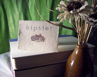 Hipster blank card
