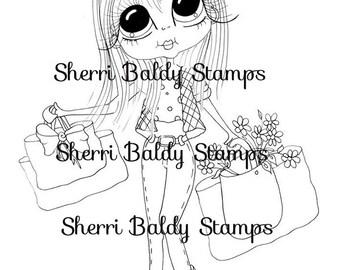INSTANT digitale Digi Stamps Big Eye Big hoofd poppen Veronica winkelen mijn Besties door Sherri Baldy downloaden