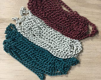 Rolo Chains in different colors [9in long]