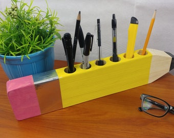Pencil Shaped Pencil Holder - Cute Gift - Desk - Gift